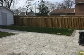Backyard Stone Patio Project in Toronto